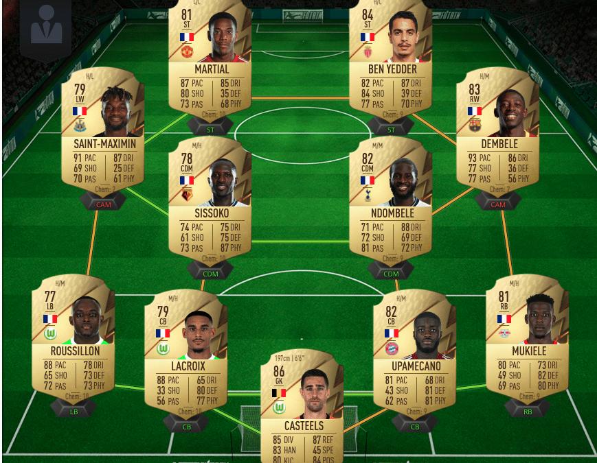 Une équipe française sur FUT 22 pour commencer Rivals
