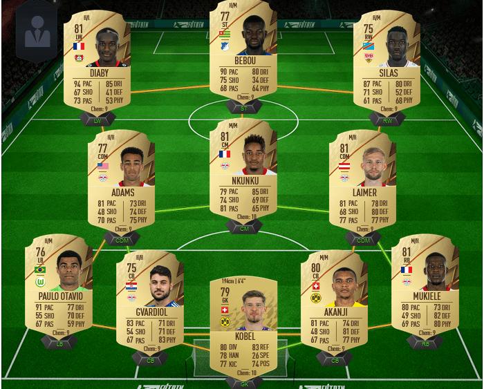 équipe de Ligue 1 par chère