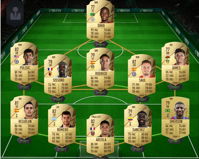 Une équipe de Premier League pas chère sur FIFA 22