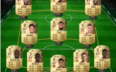 Une équipe française pas chère sur FIFA 22