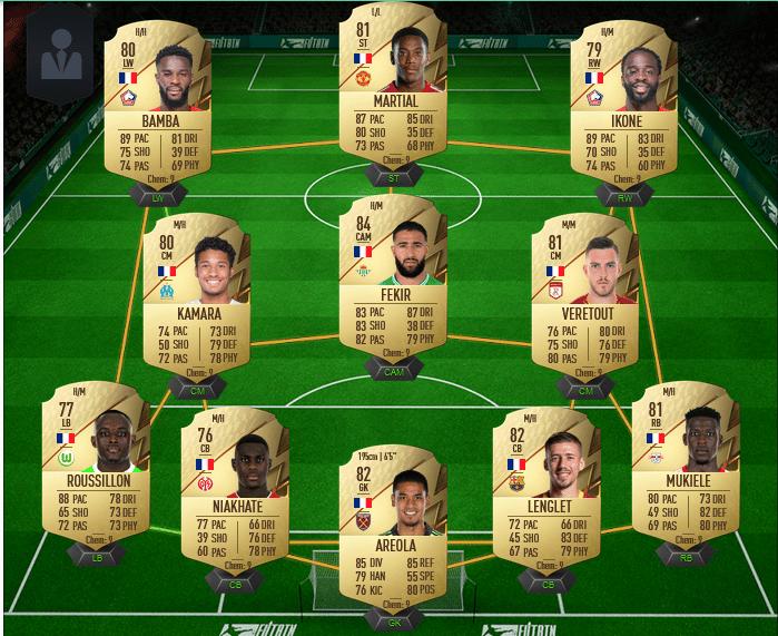 équipe française pas chère sur FIFA 22