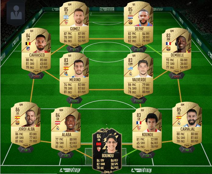 équipe de Liga - équipe FUT 22