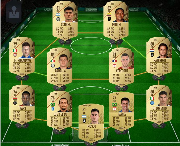 équipe de Serie A pas chère sur FIFA 22