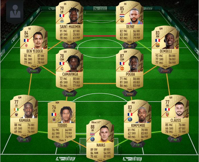 équipe Eduardo Camavinga OTW FIFA 22
